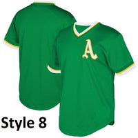 Oakland Athletics Customizable Throwbackl Jersey