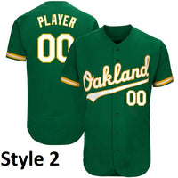 Oakland Athletics Style Customizable Throwback Baseball Jersey