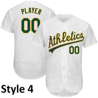 Oakland Athletics Style Customizable Throwbackl Jersey