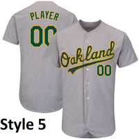 Oakland Athletics Customizable Baseball Jersey