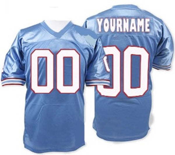 Houston Oilers Customizable Throwback Football Jersey