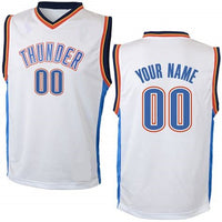Oklahoma City Thunder Style Customizable Basketball Jersey
