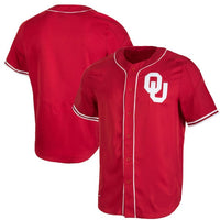 Oklahoma Sooners Customizable College Style Baseball Jersey
