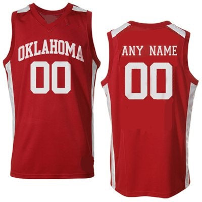Oklahoma Sooners Customizable College Basketball Jersey