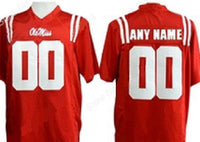 Ole Miss Rebels Customizable College Football Jersey