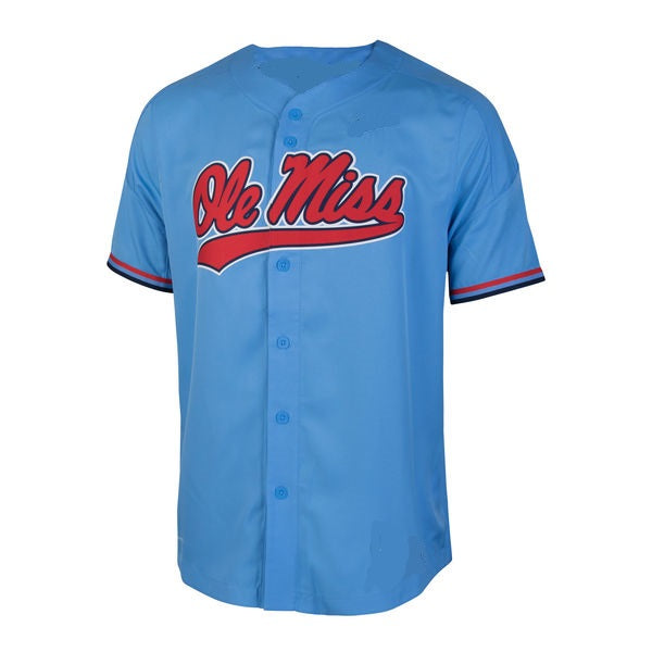 Ole Miss Rebels Style Customizable College Baseball Jersey