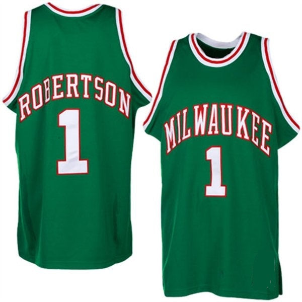 Oscar Robertson Milwaukee Bucks Throwback Basketball Jersey