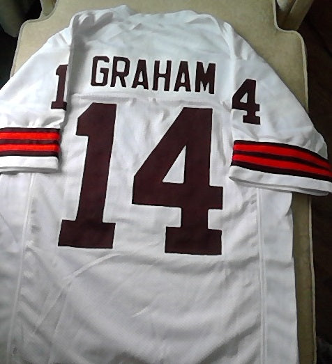 Otto Graham Cleveland Browns Football Jersey (In-Stock-Closeout) Size Large/44 Inch Chest