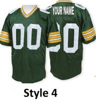 Customizable Green Bay Packers Pro Style Throwback Football Jersey