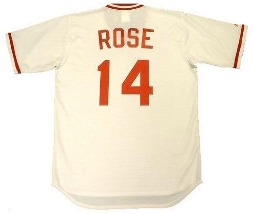 Pete Rose 1975 Cincinatti Reds Home Throwback Jersey