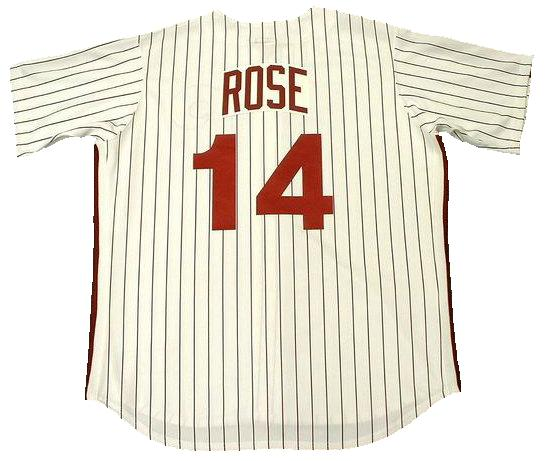 Pete Rose 1980 Philadelphia Phillies Home Throwback Jersey