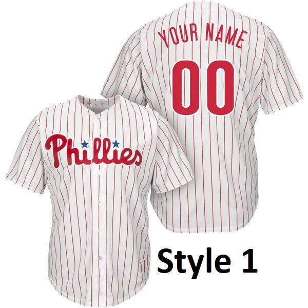 Philadelphia Phillies Customizable Baseball Jersey