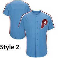 Philadelphia Phillies Customizable Throwback Baseball Jersey