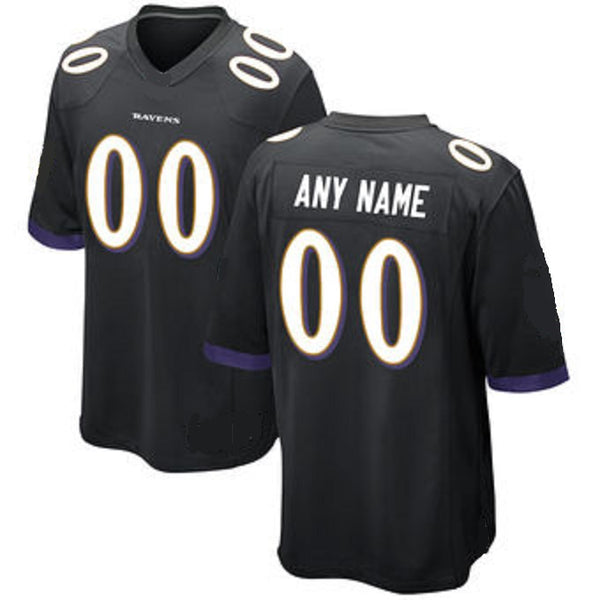 Customizable Baltimore Ravens Pro Style Football Jersey