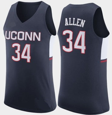 best sneakers 50fc2 19227 Ray Allen Connecticut Huskies College Throwback Basketball Jersey