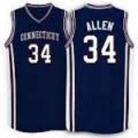 Ray Allen UCONN Huskies College Throwback Basketball Jersey