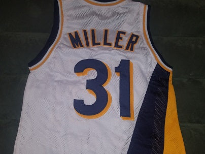 Reggie Miller 1990-91 Indiana Pacers Throwback Jersey (In-Stock-Closeout) Size 36 Inch Chest