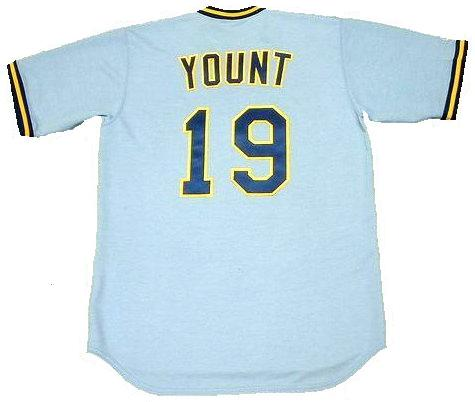 Robin Yount 1982 Milwaukee Brewers Throwback Baseball Jersey