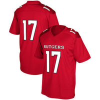 Rutgers Scarlet Knights Style Customizable Football Jersey