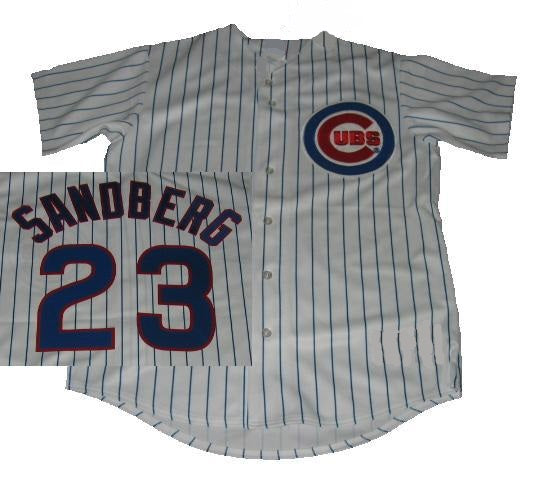 Ryne Sandberg Chicago Cubs Home Button Down Jersey