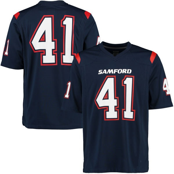 Customizable Samford Bulldogs Style Football Jersey