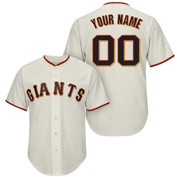 San Francisco Giants Style Customizable Baseball Jersey