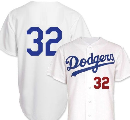 Sandy Koufax Los Angeles Dodgers Custom Jersey (In-Stock-Closeout) Size Small/36 Inch Chest