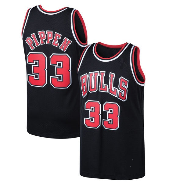Scottie Pippen Chicago Bulls Black Throwback Jersey