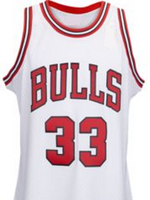Scottie Pippen Chicago Bulls White Basketball Jersey