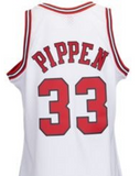 Scottie Pippen Chicago Bulls White Throwback Jersey