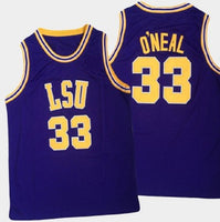 Shaquille O'Neal LSU Tigers College Basketball Jersey