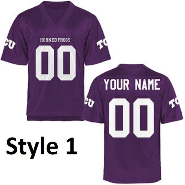 TCU Horned Frogs Style Customizable Football Jersey