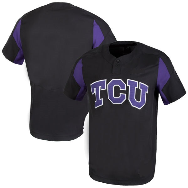Customizable TCU Horned Frogs College Style Baseball Jersey