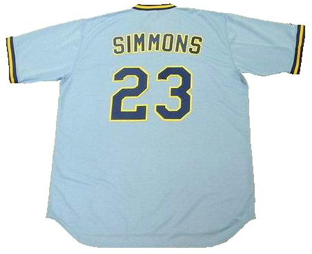 Ted Simmons 1982 Milwaukee Brewers Throwback Baseball Jersey