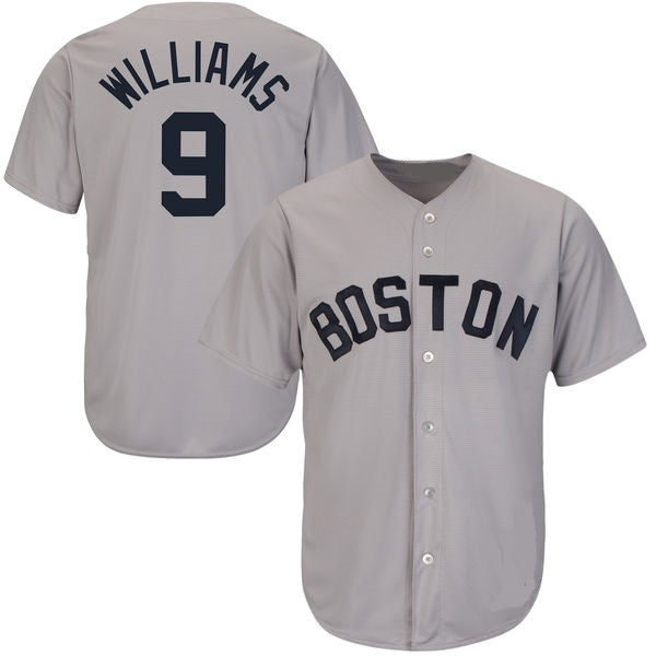Ted Williams Boston Red Sox Road Throwback Baseball Jersey