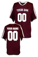 Texas A&M Aggies Style Customizable College Football Jersey