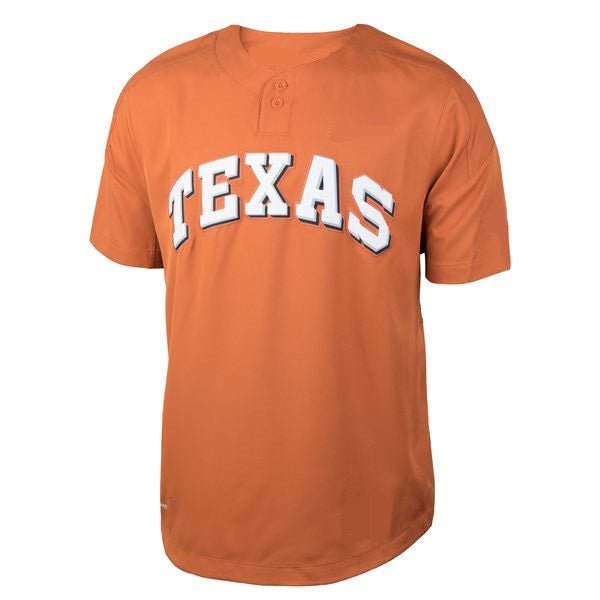 Customizable Texas Longhorns College Style Baseball Jersey
