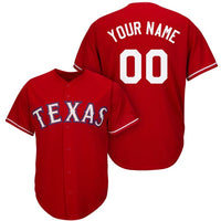 Texas Rangers Style Customizable College Baseball Jersey