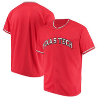 Customizable Texas Tech Red Raiders College Style Baseball Jersey