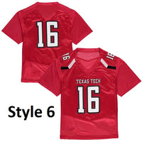 Texas Tech Red Raiders Style Customizable College Jersey