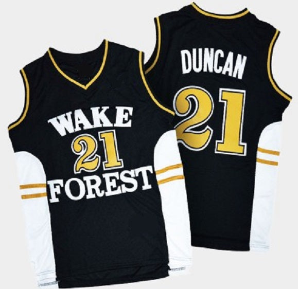 Tim Duncan Wake Forest Demon Deacons Basketball Jersey