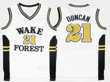 Tim Duncan Wake Forest Demon Deacons College Basketball Jersey