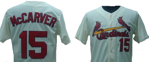 Tim McCarver Saint Louis Cardinals Throwback Jersey