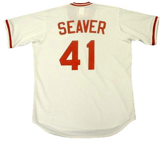 Tom Seaver Cincinnati Reds Home Throwback Baseball Jersey