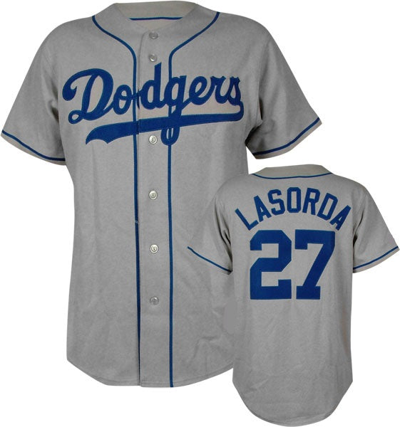 watch 3cddf 0b45a Tommy Lasorda Los Angeles Dodgers Throwback Jersey