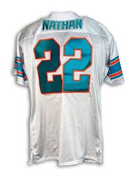 new style 39b57 17efd Tony Nathan Miami Dolphins Throwback Jersey