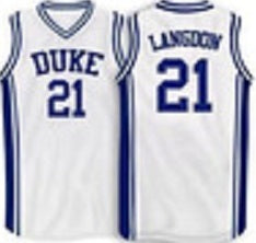 new product d7463 2a243 Trajan Langdon Duke Blue Devils College Basketball Throwback Jersey