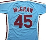 Tug McGraw Philadelphia Phillies Blue Throwback Jersey