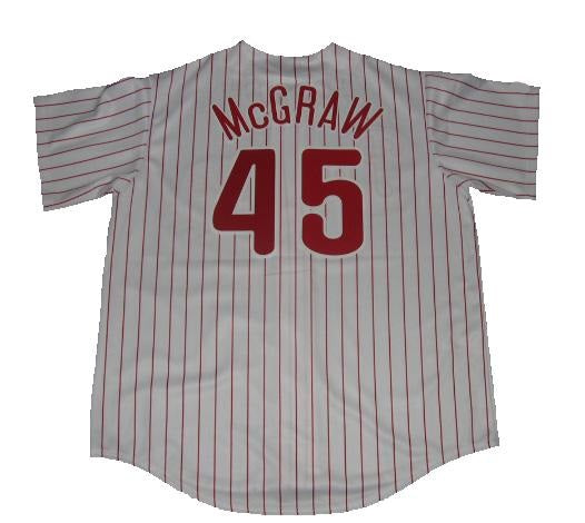 Tug McGraw Philadelphia Phillies Home Pinstripe Jersey