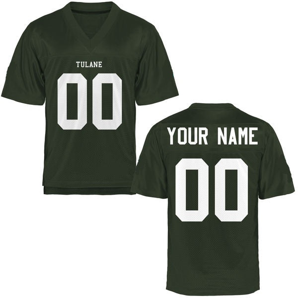 Customizable Tulane Green Wave Style Football Jersey